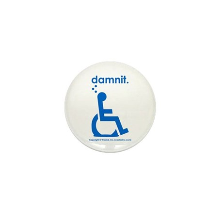 damnit.wheelchair Mini Button (100 pack)