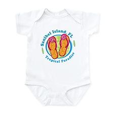 Sanibel Island - Flip Flops Infant Bodysuit