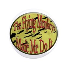 "Flying Monkeys 3.5"" Button (100 pack)"