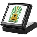 Green Sunburst Ukulele Keepsake Box