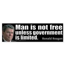 Man is not free unless... Bumper Sticker