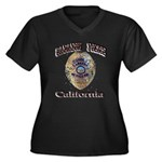 Cabazon PD Women's Plus Size V-Neck Dark T-Shirt
