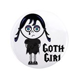 "Goth Girl 3.5"" Button"