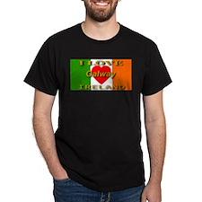 I Love Galway Ireland Heart F Black T-Shirt