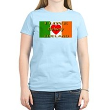 I Love Galway Ireland Heart F Women's Pink T-Shirt