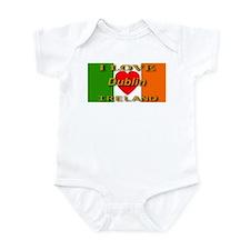 I Love Dublin Ireland Heart F Infant Creeper