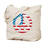 4th July Peace Tote Bag