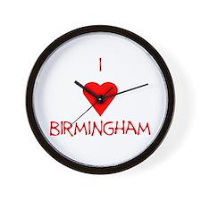 I Love Birmingham Wall Clock