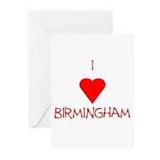 I Love Birmingham Greeting Cards (Pk of 20)