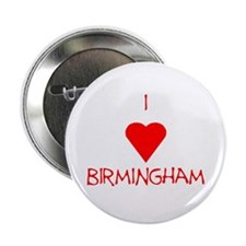 "I Love Birmingham 2.25"" Button"