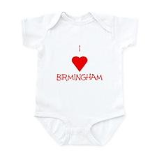I Love Birmingham Onesie