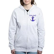 Anchors Aweigh Blue Zip Hoodie