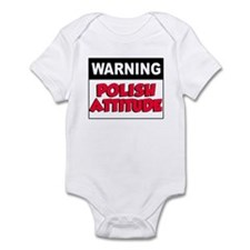 Warning Polish Attitude Infant Bodysuit