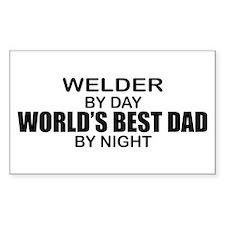 World's Best Dad - Welder Decal