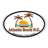 Atlantic Beach NC - Palm Trees Design Decal