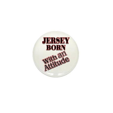 born in Jersey Mini Button