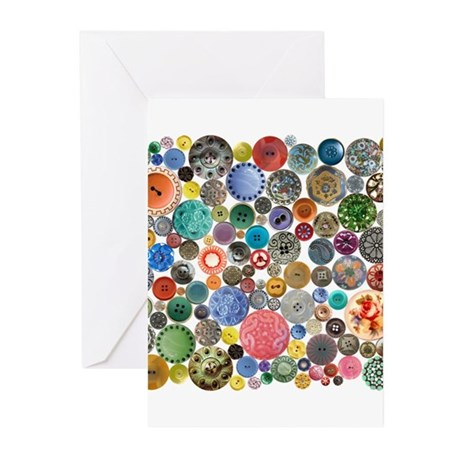 Button Collage Fun Stuff Greeting Cards (Pk of 10)
