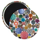 "Button Collage Fun Stuff 2.25"" Magnet (10 pack)"