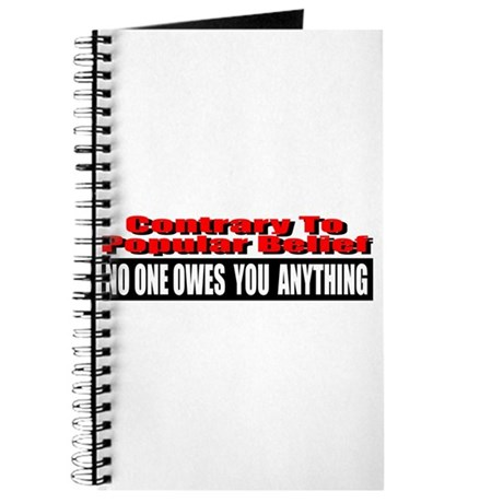 No One Owes You Anything Journal