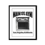 Main Street Gym Framed Panel Print