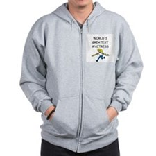 world's greatest waitress Zip Hoodie