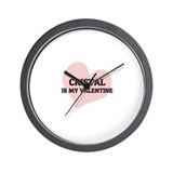 Cristal Is My Valentine Wall Clock