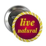 "Live Natural Sunflower 2.25"" Button (100 pack)"