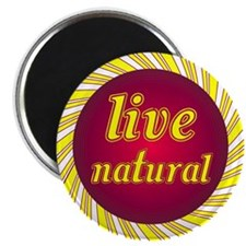 "Live Natural Sunflower 2.25"" Magnet (100 pack)"