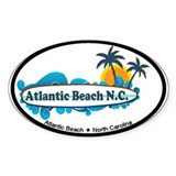 Atlantic Beach NC - Surf Design Decal