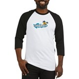 Atlantic Beach NC - Surf Design Baseball Jersey