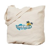 Atlantic Beach NC - Surf Design Tote Bag