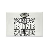 Screw Bone Cancer Rectangle Magnet (100 pack)