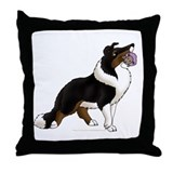 Collie Pup Throw Pillow