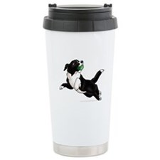 Border Collie Pup Ceramic Travel Mug