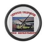 Lynwood Fire Department Large Wall Clock