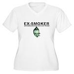 Ex-Smoker Women's Plus Size V-Neck T-Shirt