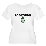 Ex-Smoker Women's Plus Size Scoop Neck T-Shirt