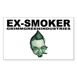 Ex-Smoker Sticker (Rectangle)