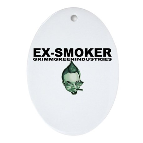 Ex-Smoker Ornament (Oval)