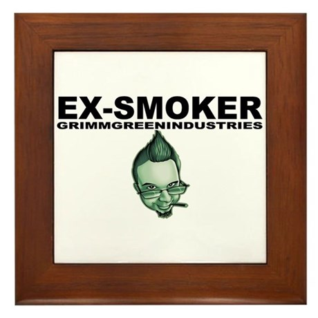 Ex-Smoker Framed Tile