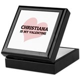 Christiana Is My Valentine Keepsake Box