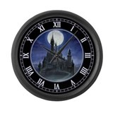 Gothic Castle Large Wall Clock