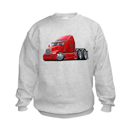 Kenworth 660 Red Truck Kids Sweatshirt