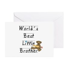 Bear Little Brother Greeting Cards (Pk of 10)