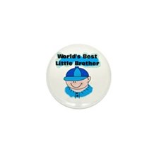 Boy Best Little Brother Mini Button (100 pack)