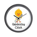 Gardening Chick Wall Clock