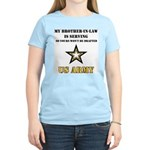 Army - Brother-in-law Serving Women's Pink T-Shirt