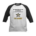 Army - Brother-in-law Serving Kids Baseball Jersey