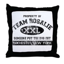 Team Rosalie Throw Pillow