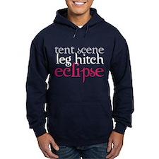 Tent Scene, Leg Hitch, Eclipse Hoodie (dark)
